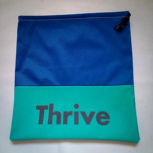 "Handmade Fabric Drawstring Bag, ""Thrive"""