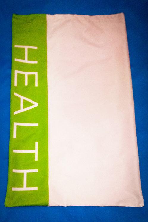 "Handmade Fabric Large Drawstring Bag, ""Health"""