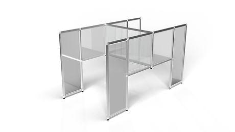 T3 H-shaped Floorstanding Desk Divider.j