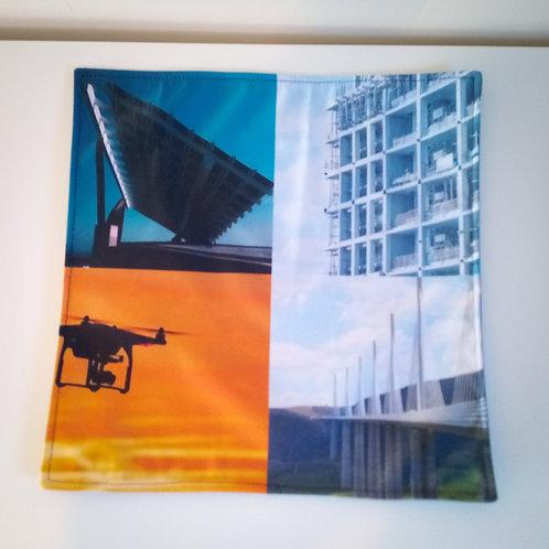 Handmade Fabric Reversible Place Mat, Sky/Blue