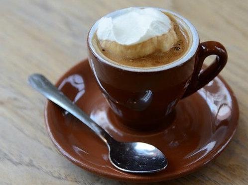 Caffé espresso macchiato Panna