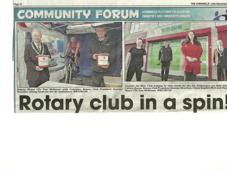 £13,000 raised for Air Ambulance N.I.