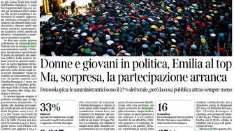 Politica. Inchiesta Corriere di Bologna su studio di Demoskopika. Il commento della vicepresidente d