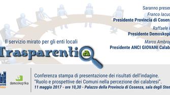 Trasparenza. Convenzione tra Anci Giovani Calabria e Demoskopika