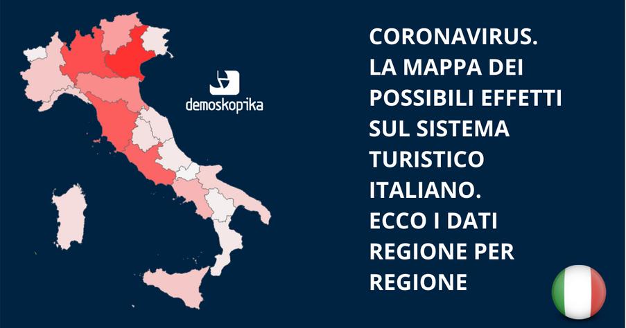 Coronavirus. Gli effetti sul turismo italiano. Lo scenario regione per regione