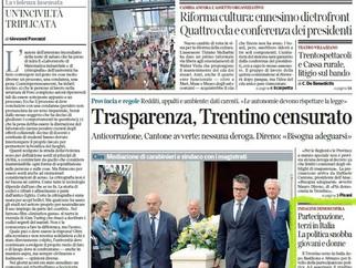 Trentino Alto Adige. La politica si confronta su studio Demoskopika