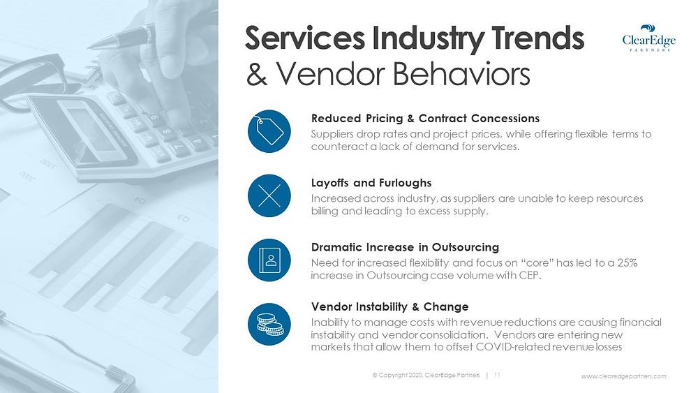 Service Industry trends & vendor behaviors
