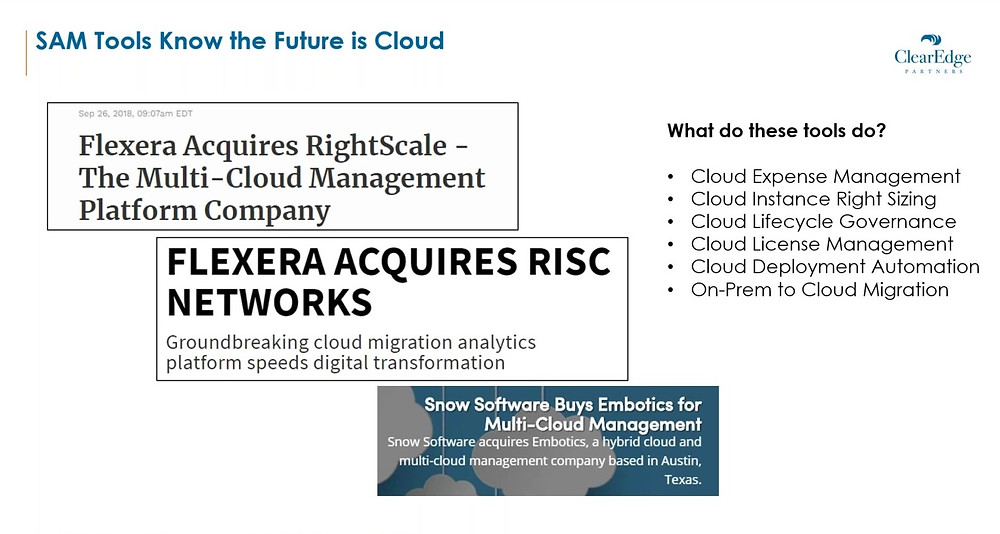 SAM Tools Know the Future is Cloud