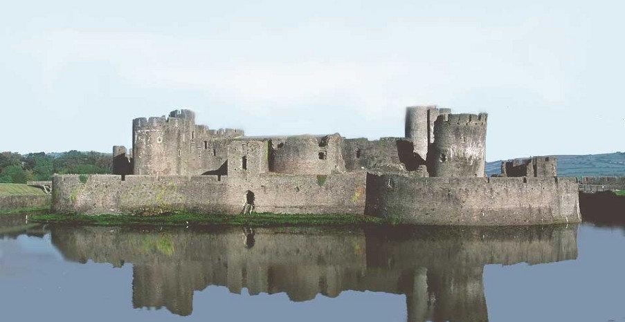 Caerphilly Castle Largest Castle in Wales.jpg
