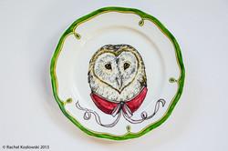 Barn Owl Plate