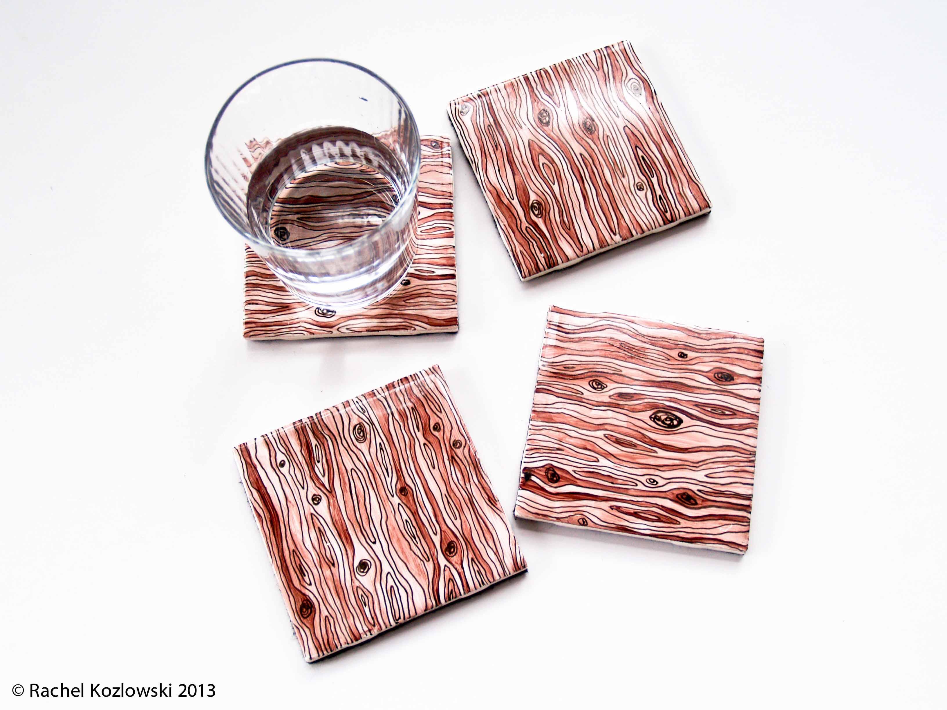 Wood grain Coasters