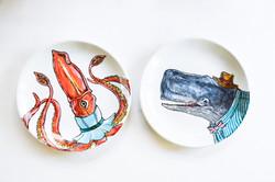 Giant Squid + Sperm Whale