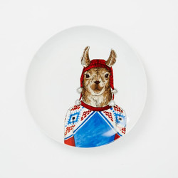 WE Dapper Animal Plate - Llama