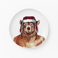 West Elm Dapper Animal Plates Bear