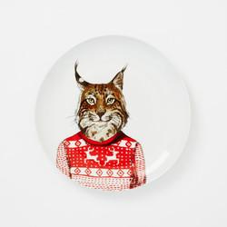 WE Dapper Animal Plates - Lynx