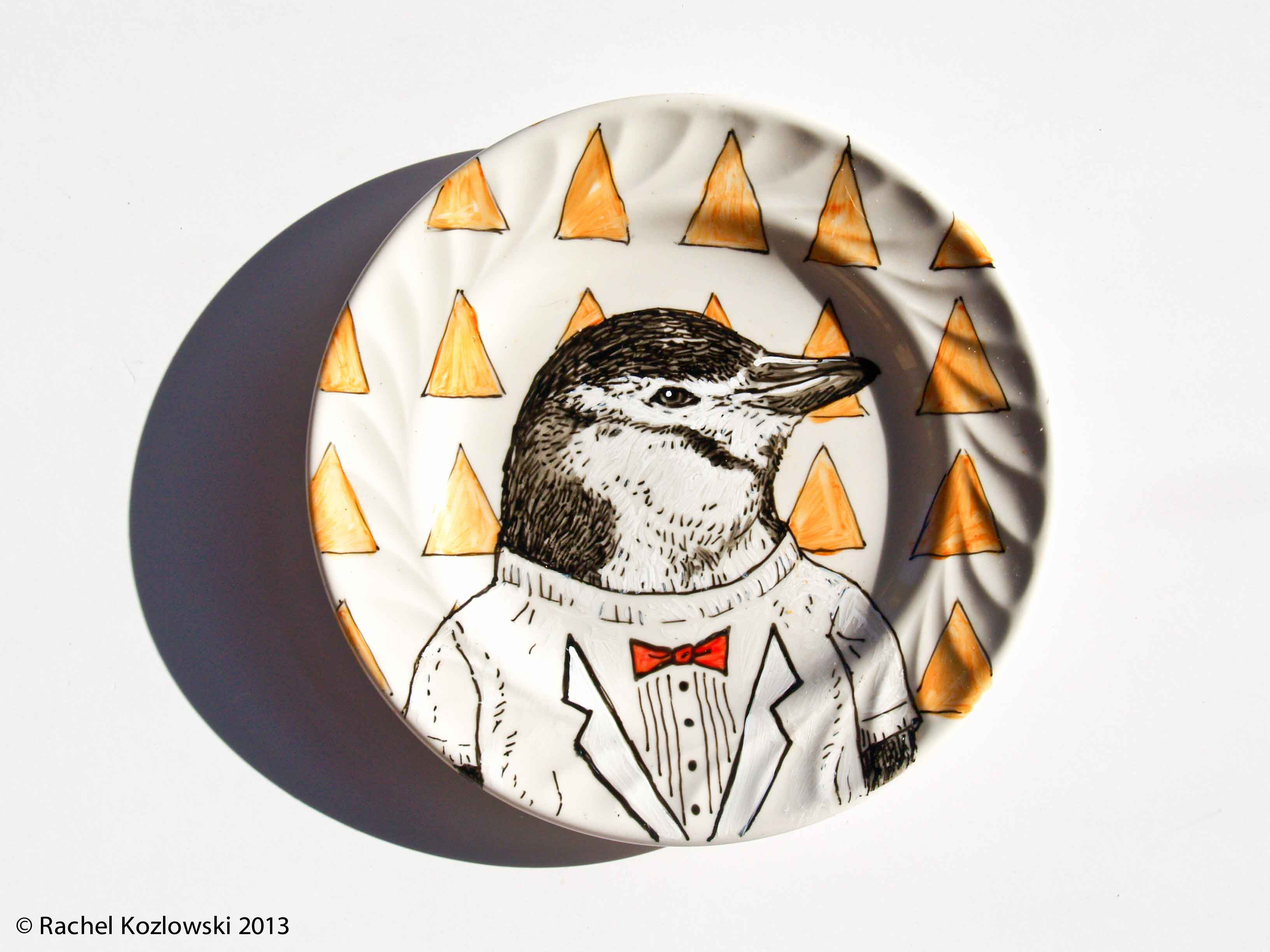 Party Penguin Plate