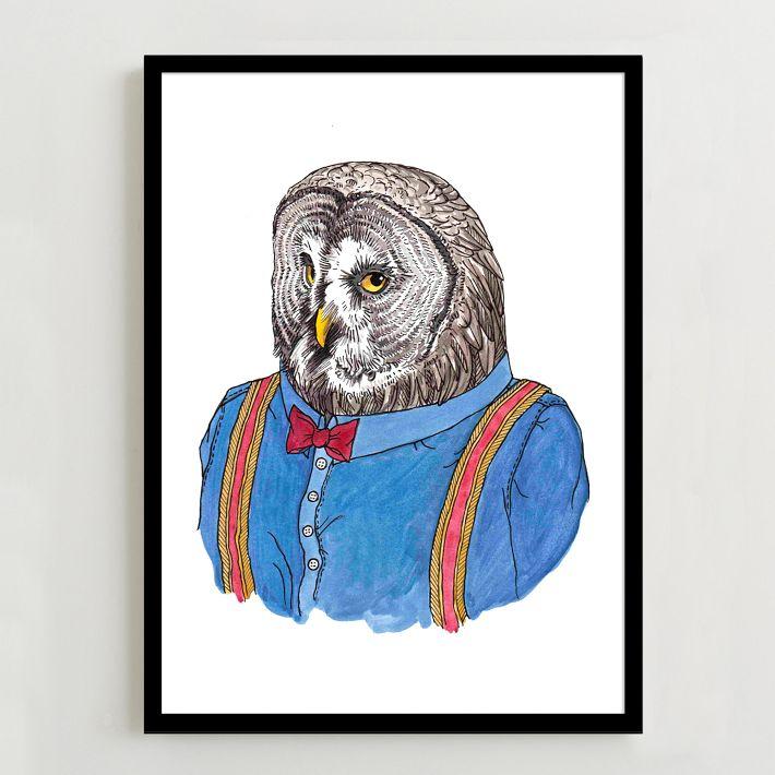 West Elm Owl Print