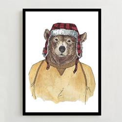 West Elm Bear Print