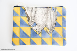 Hand Painted Clutches - Bat