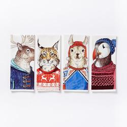 WE Dapper Animal Tea Towels