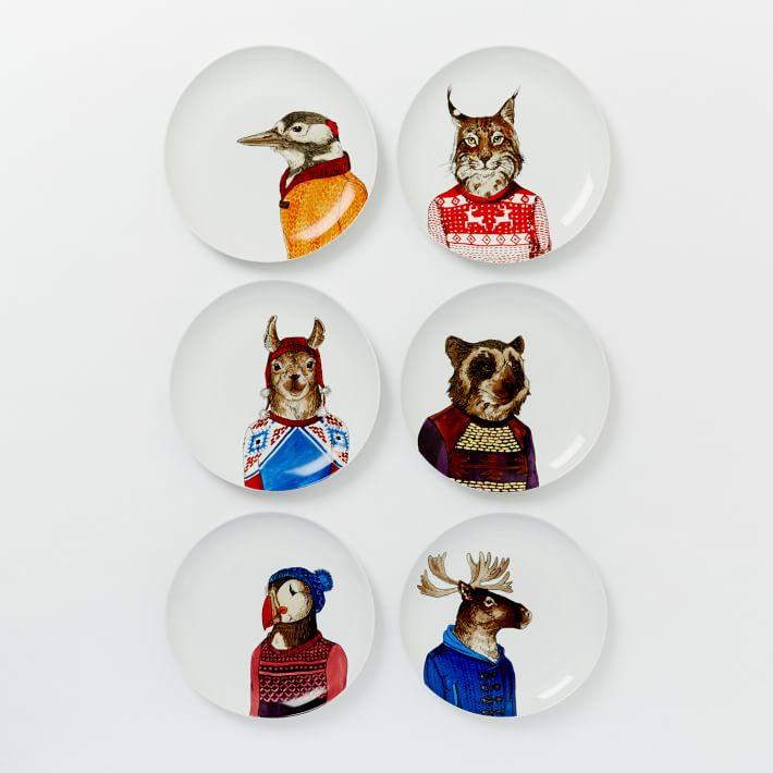 West Elm Dapper Animal Plates