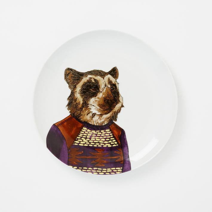 WE Dapper Animal Plates - Bear