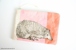 Hand Painted Clutches - Hedgehog