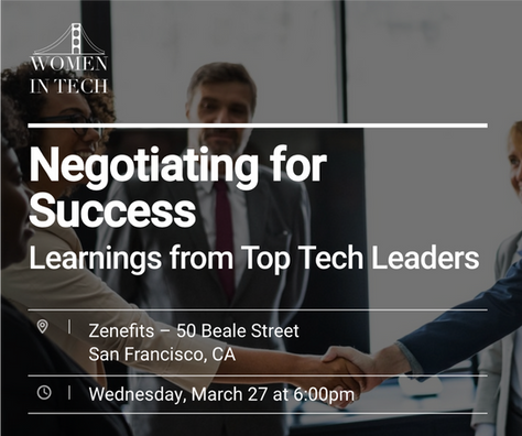 [EVENT] Negotiating for Success: Learnings from Top Tech Leaders