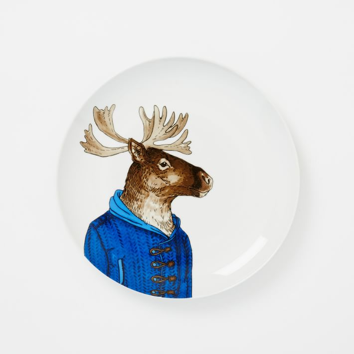 WE Dapper Animal Plates - Caribou