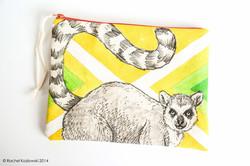 Hand Painted Clutches - Lemur