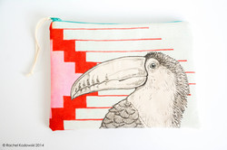 Hand Painted Clutches - Toucan