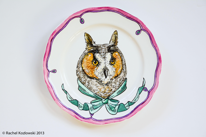 Long Eared Owl Plate