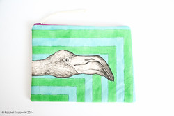 Hand Painted Clutches - Flamingo