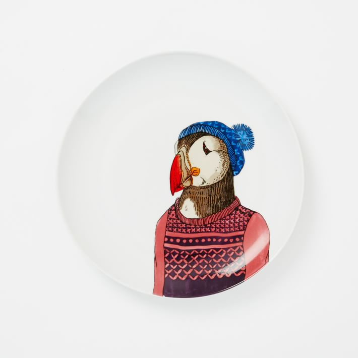 WE Dapper Animal Plates - Puffin