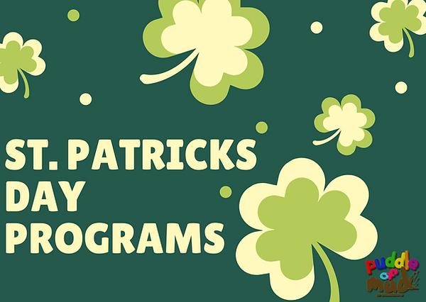 Green Illustrated Clover Leaf St Patrick