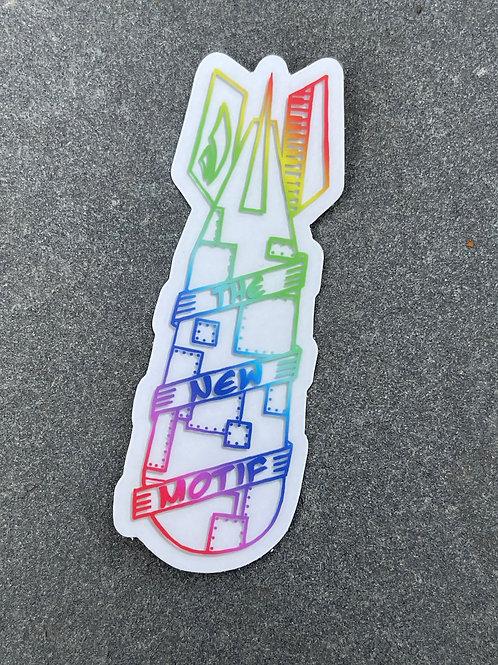 Rainbow Funk Bomb Sticker (Clear)