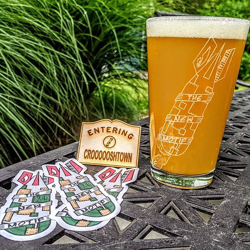 Funk Bomb Etched Beer Glasses