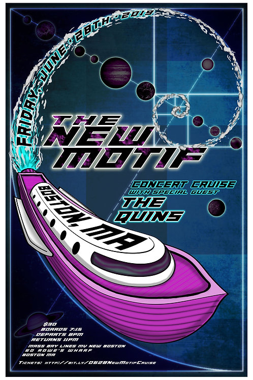 TNM Concert Cruise Poster by One Drop Design Studio