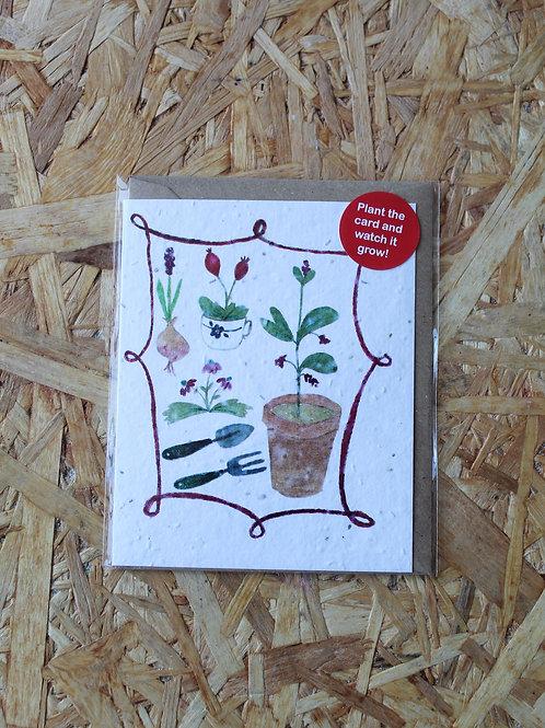 Gardening Plant Card
