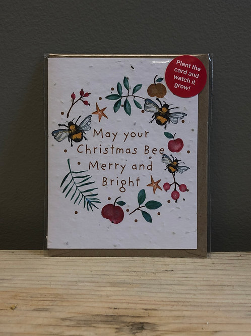 Plant The Card Christmas Card