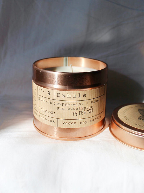 Exhale Tin Candle
