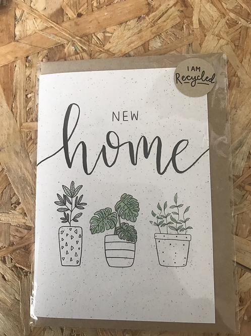 Recycled New Home Card