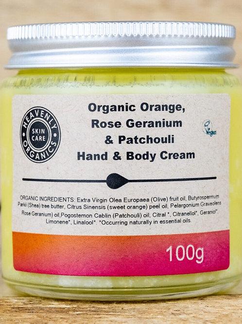Rose geranium & Patchouli Hand & Body Cream
