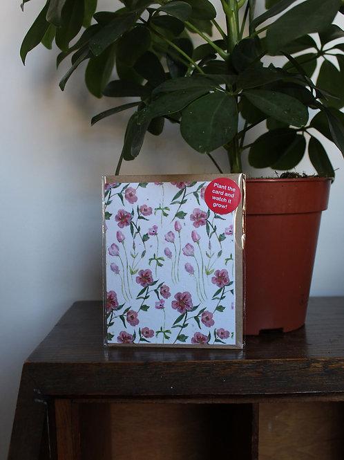 Plain Flower Plant Card
