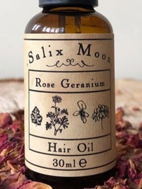 Salix Moon Rose Geranium Hair Oil