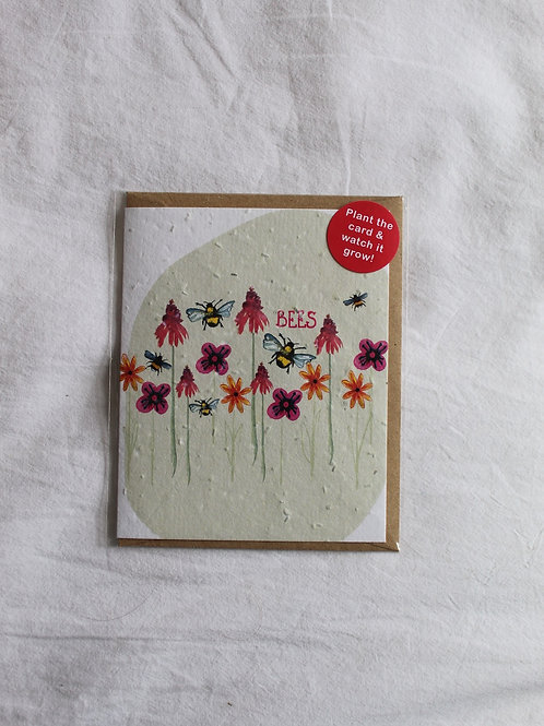 Bees Plant Card