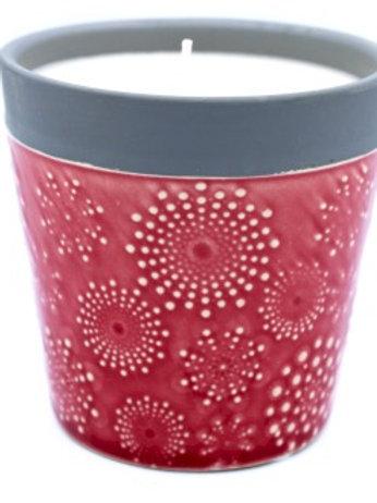 Rambling Rose Candle Pot