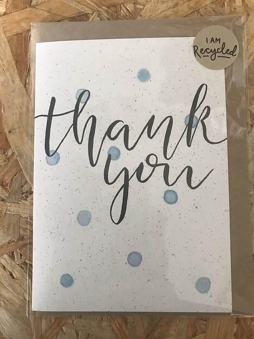 Recycled Thank you Card