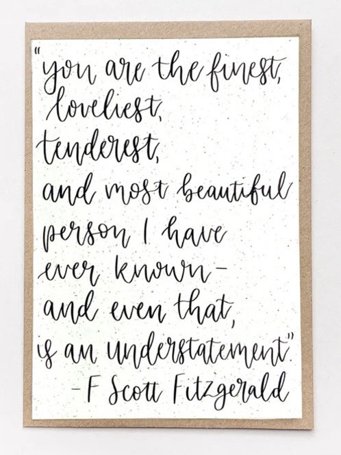 Fitzgerald Quote Recycled Card