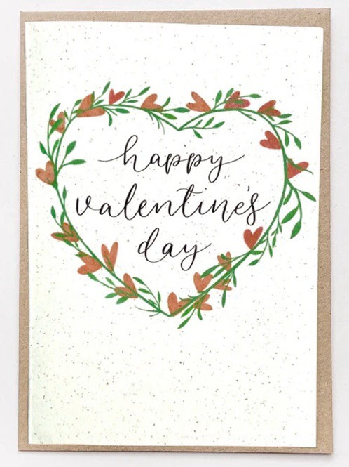 Happy Valentine's Day Recycled card